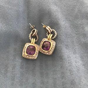 Jewelry - Amethyst silver earrings