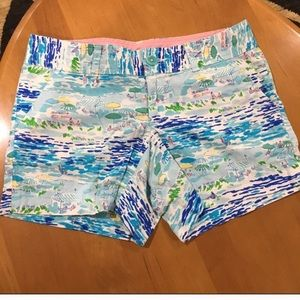 Lilly Pulitzer Beach scene Shorts