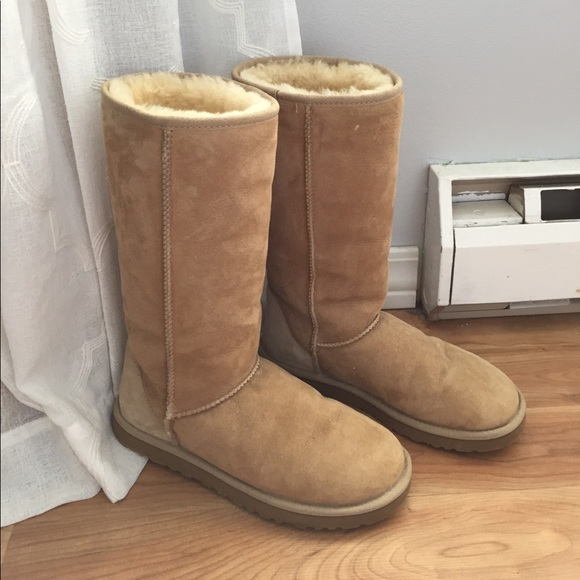 50 off ugg shoes ugg classic ii tall boots in sand from kristen 39 s closet on poshmark. Black Bedroom Furniture Sets. Home Design Ideas