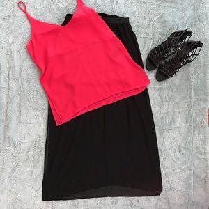H&M long sheer black skirt