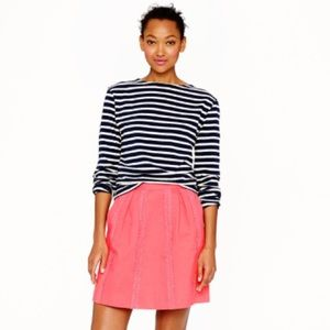 J. Crew Lace Stripe Skirt Mini