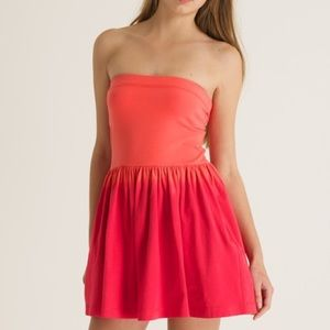 Superdry ombre strapless dress