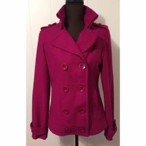 Women's Pink Forever 21 Pea Coat