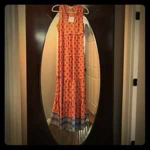 BeachLunchLounge Coral Printed Maxi Dress