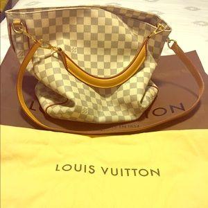 Auth Louis Vuitton Soffi Hobo Bag in Damier Azul