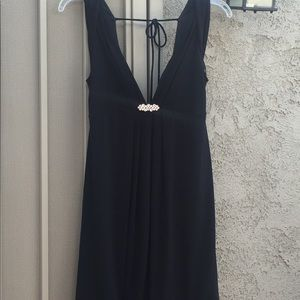 Evening short dress.  With jewels in the front.
