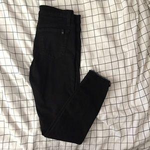 JOE'S Size 26 Black Skinny Distressed Hems Jeans