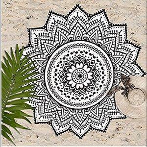 BOHO BOHEMIAN MANDALA ROUND TAPESTRY BEACH TOWEL