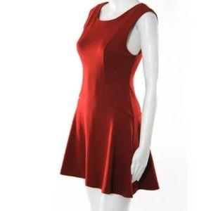 FREE PEOPLE RED SLEEVELESS SHIFT DRESS SZ XS