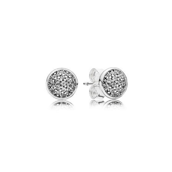 Pandora Silver Stud Earrings: Pandora • Sparkly Sterling