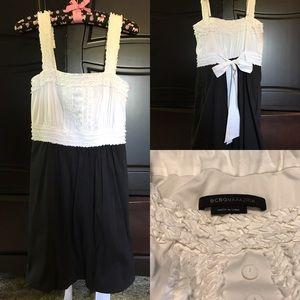 BCBG dress bubble bow ruffle