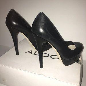 Aldo black heels 7.5