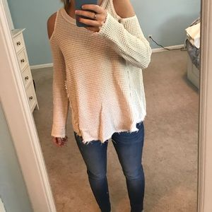 Shoulder Cutout Free People Sweater