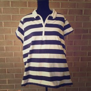 Plus Size Maternity Striped Top