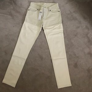 BCBG Generation sz25 white denim/leatherish jeans!