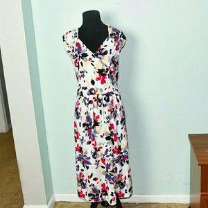 Dresses & Skirts - Adorable Multicolored Floral Print Dress
