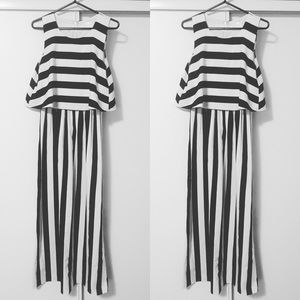 BEETLEJUICE Maxi Dress - Black and White