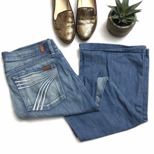 7FAM 7 For All Mankind Dojo Medium Flare Jeans