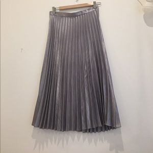Asos silver skirt