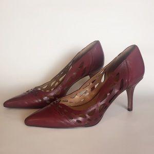 Nine West Burgundy Heels