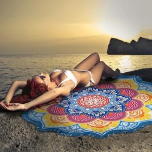Other - Round Circle Mandala Beach Yoga Fringe Blanket NWT