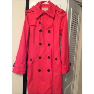 Michael Kors 💥 Double breasted hooded trench coat