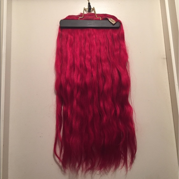 Bellami Accessories 22in Clip In Extensions Custom Dyed Red Poshmark
