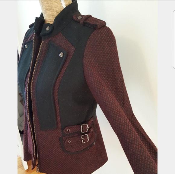 Sam Edelman - SAM EDELMAN Burgundy Military Coat from Brenda's ...
