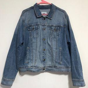 Old Navy Plus Size Blue Jean Denim Jacket XXL