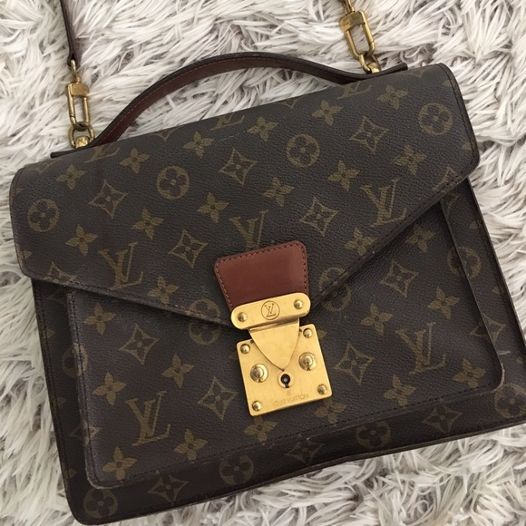 6280e1f8d607 Louis Vuitton Handbags - Authentic Louis Vuitton Monceau Pm Brown Satchel