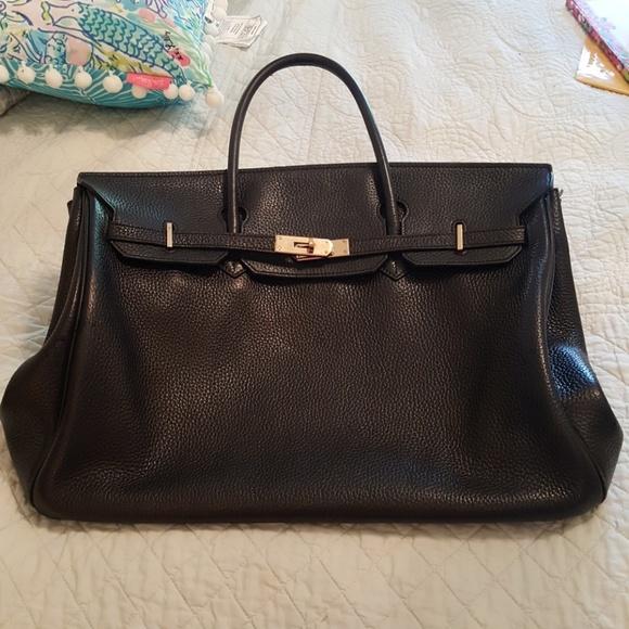 Hermes Handbags - Hermes Birkin Black Togo Leather Large 40CM Purse ded12a45b6863
