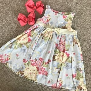 Other - 😊 5/$20 Adorable Baby Lulu Floral Dress 2T