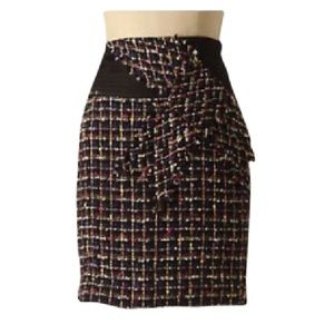Anthropologie colorful with a twist tweed skirt