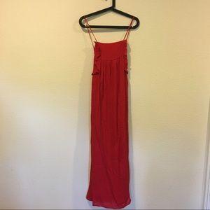 Zara Dresses - NWT Zara basic collect red tie maxi dress