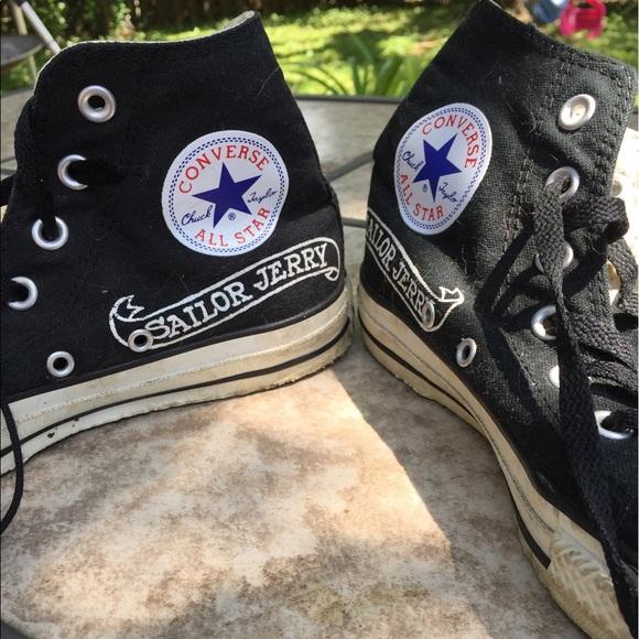 Converse Shoes - Sailor Jerry Limited Edition vintage Converse