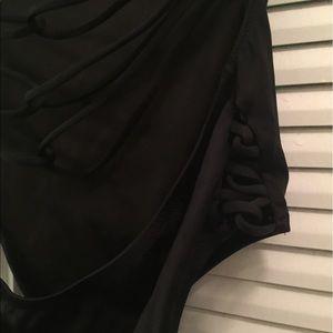 Victoria's Secret Swim - VS Black One Piece Strapless Bathing Suit 👙 ☀️