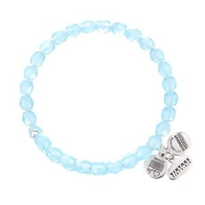 Alex & Ani beaded bracelet in sky blue