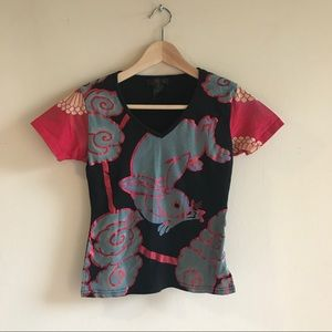Tops - Chinese Graphic Rabbit Shirt Vintage