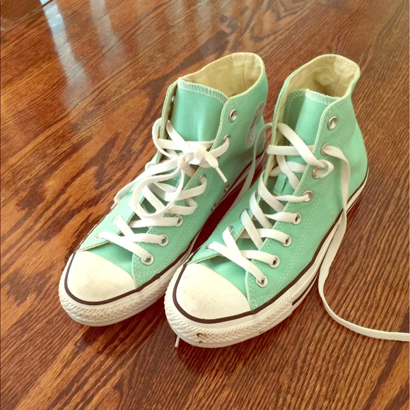 Converse Shoes - Sea foam Green converse. 20bf6b866