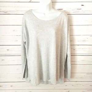 H&M Relaxed Fit Light Gray Sweater