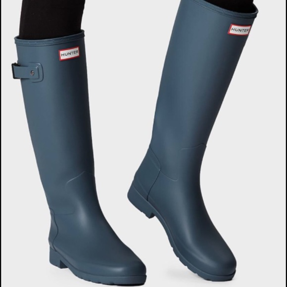 Hunter original refined Pale Air Force rain boots