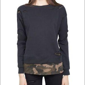 Generation Love NY Distressed Camo Sweatshirt
