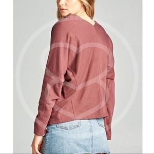 Bellanblue Tops - RYLIE Long Sleeve Top - BRICK