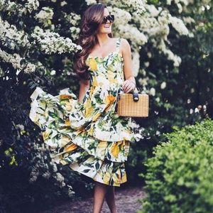 {h&m} lemon poplin sun dress