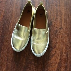 H&M Gold Slip Ons