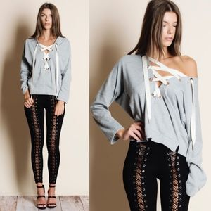 RYLIE Long Sleeve Top - H. GREY