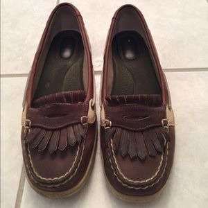 Sperry leopard pearlfish boat shoes