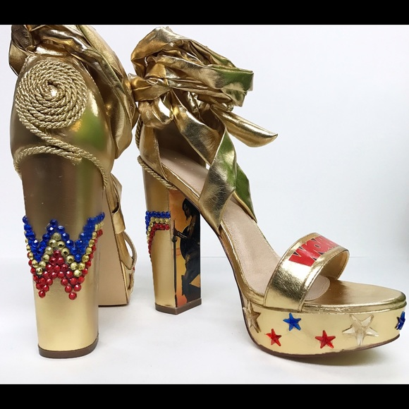 c4a559607004d Wonder Woman Heels TODAY ONLY SALE!