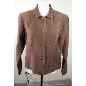 NWT $178 Pendleton Silk Linen Blend Blazer