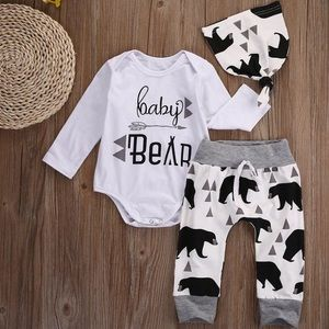 Baby Bear Set Baby Boy Outfit NWT Little Boy New
